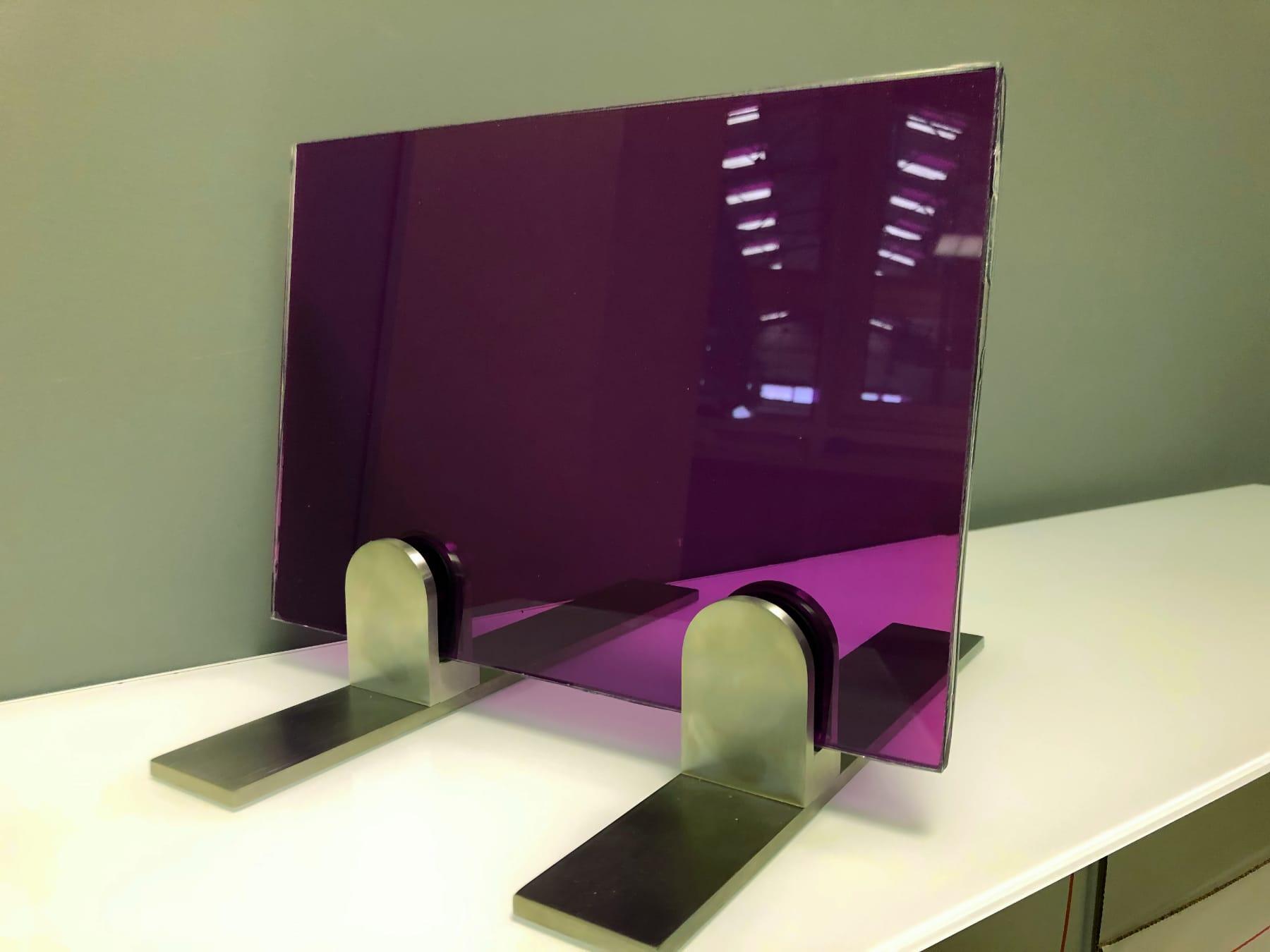 Verre feuilleté violet
